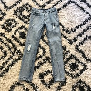 Light Wash Distressed Gap Kids Jeans